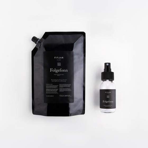 Folgefonn Handsprit 500ml Refill + 50ml empty bottle